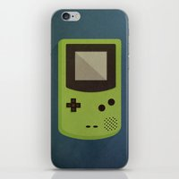 gameboy iPhone & iPod Skins featuring GameBoy by Beardy Graphics