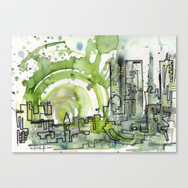 City of Tomorrow Canvas Print