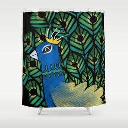 Pretty Peacock Shower Curtain