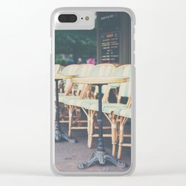 tables & chairs ... Clear iPhone Case