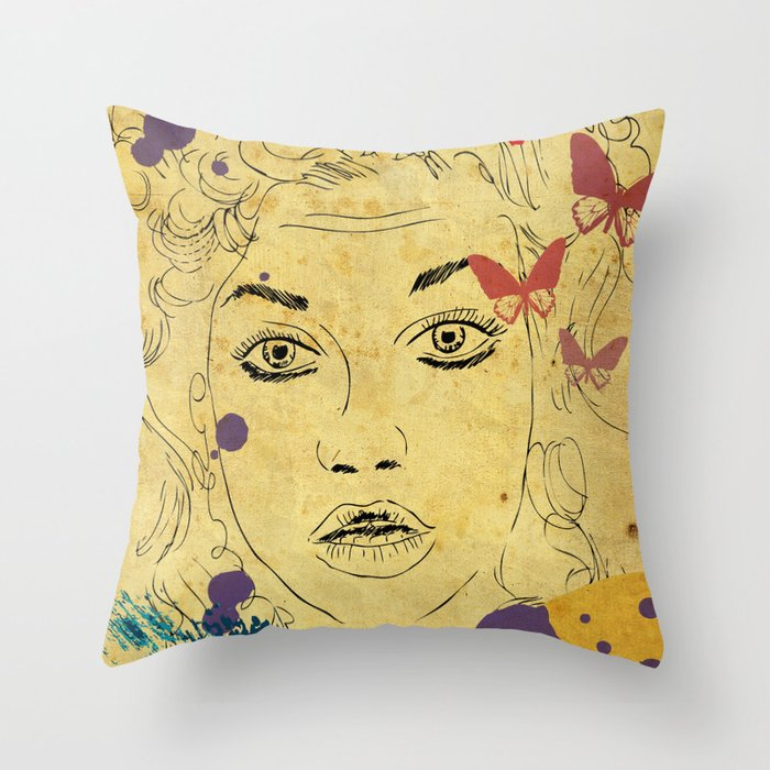 Shocked! Throw Pillow