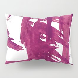 Cranberry brushstroke [1]: a bold, simple, abstract piece in purple Pillow Sham