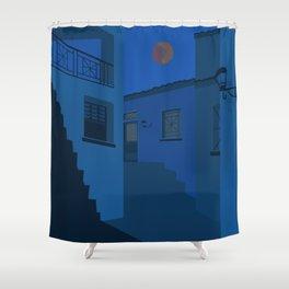 midnight mykonos Shower Curtain