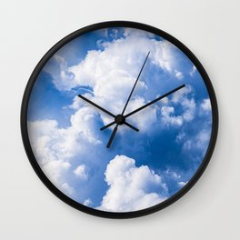 Stormy Clouds Pattern Wall Clock