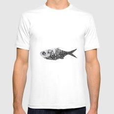 Fish White Mens Fitted Tee MEDIUM