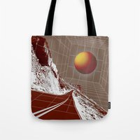 drive Tote Bags featuring Drive by DM Davis