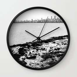 Vancouver Skyline on a Grey Day Wall Clock