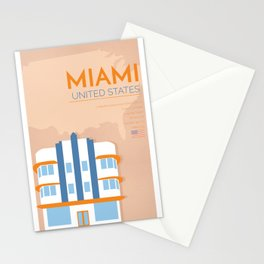 Miami Poster Stationery Cards