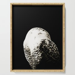 Snow Owl #1 #animal #decor #art #society6 Serving Tray