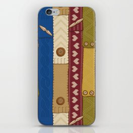 Scarves Knitted Buttoned iPhone Skin