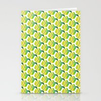 green pattern Stationery Cards featuring pattern green by colli13designs