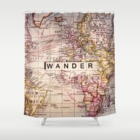 wander Shower Curtains featuring wander by Sylvia Cook Photography