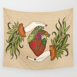 Eating is caring Wall Tapestry
