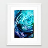 surfing Framed Art Prints featuring Surfing by ART de Luna