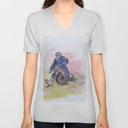 Dirt Bike Racer Unisex V-Neck