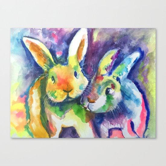 Bunny Pals Canvas Print