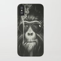 black cat iPhone & iPod Cases featuring Smoke 'Em If You Got 'Em by Dctr. Lukas Brezak