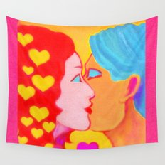 Forms of Love FemaleMale Wall Tapestry