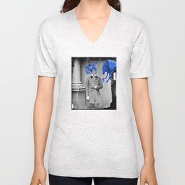 Blue Bugs Ate Grand Pappy Unisex V-Neck