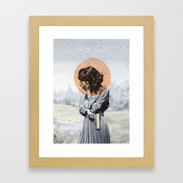 Quiet, I need to think. Framed Art Print