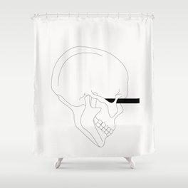 LINE #Skull (White) Shower Curtain