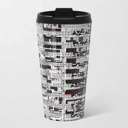 Opportunistic Species (P/D3 Glitch Collage Studies) Metal Travel Mug