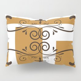 Modern minimalist brown squares and flourishes Pillow Sham