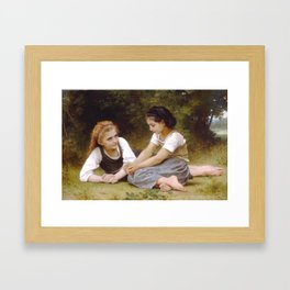 William Bouguereau - Les Noisettes [Hazelnuts] 1882 Framed Art Print