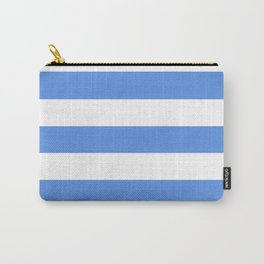 United Nations blue - solid color - white stripes pattern Carry-All Pouch