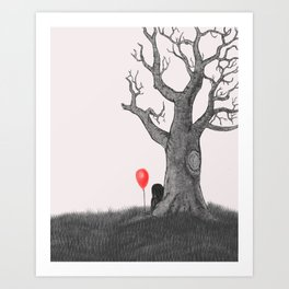 Girl with a Red Balloon Art Print