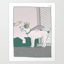 Super King Dog Art Print