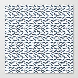 Whale Shark Pattern Canvas Print