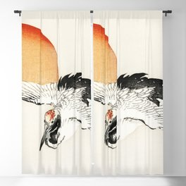 Flying Barn swallow by Kōno Bairei Blackout Curtain