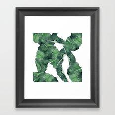 Tropical Island Leaves Framed Art Print