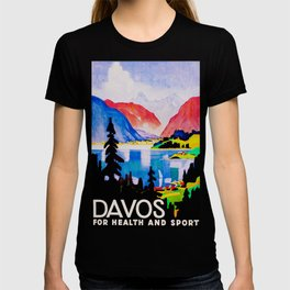 Davos Switzerland - Vintage Travel T-shirt