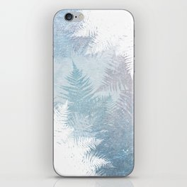 Fern Snowflakes - Taupe, Aqua & Blues iPhone Skin