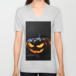 Halloween Pumpkin Jack-O-Lantern Spooky Unisex V-Neck