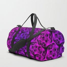Triskullion Triple Skull Repeat Pattern Duffle Bag