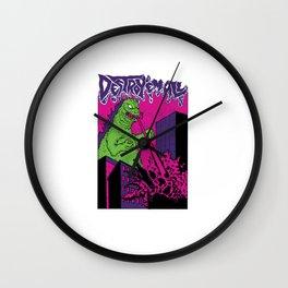 godzilla - destroy'em all Wall Clock