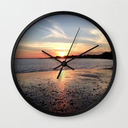 Sunset at the Beach - Greg Katz Wall Clock