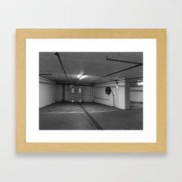carpark door Framed Art Print
