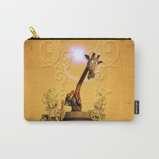 Funny, sweet giraffe Carry-All Pouch