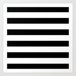 Stripe Black & White Horizontal Art Print