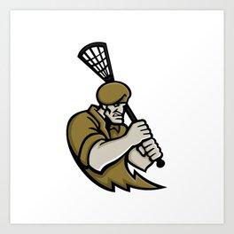 Commando Lacrosse Mascot Art Print