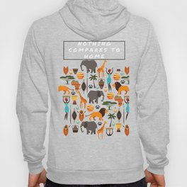 Nothing compares to home African print Hoody