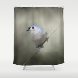Little Tufted Titmouse Shower Curtain