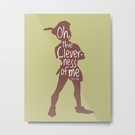 Oh the Cleverness of Me - Peter Pan Inspired Art Print Metal Print