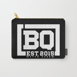 New BQ Initials-white Carry-All Pouch