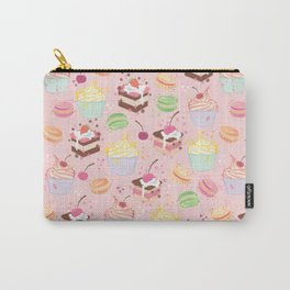 sweet pattern aka cake , cupcake and macaroon Carry-All Pouch