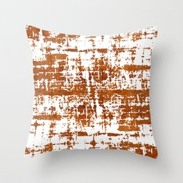 Bronze Abstract III Throw Pillow